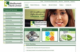 Modhumoti Bank Ltd is a bank website. It provides bank informations and documents. It's developed with Wordpress.